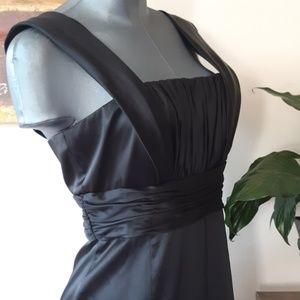 DONNA MORGAN formal satin sheath black dress